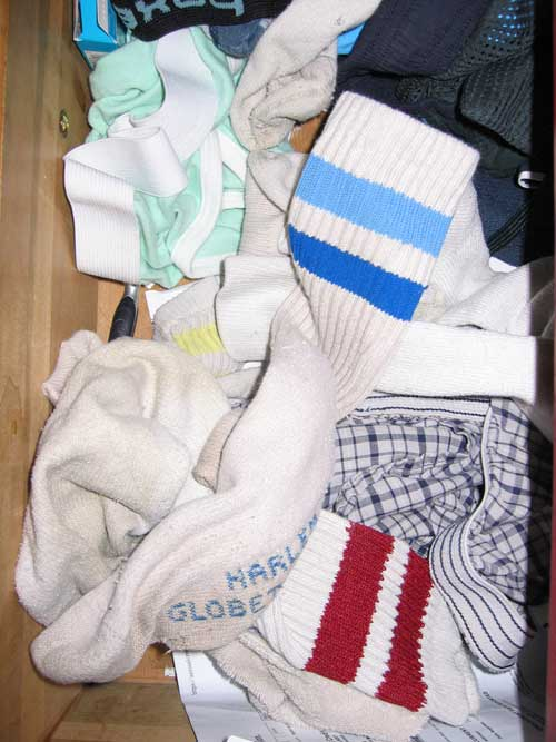 my real actual sock drawer.